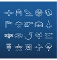 aviation outline icons vector image