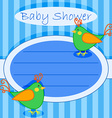Bird baby shower invitation-boy vector image