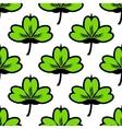 Clover leaf seamless pattern vector image