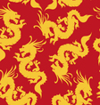 Dragons pattern chinese motifs vector image
