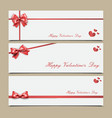 envelopes with red ribbon templates vector image