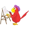 Funny Parrot Artist vector image