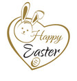 happy easter hand lettering card easter greeting vector image