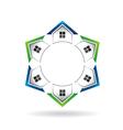 Houses Neighborhood Circle vector image