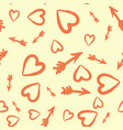 love concept heart and arrows seamless tile vector image