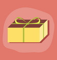 paper sticker on stylish background gift box vector image
