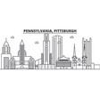 pennsylvania pittsburgh architecture line skylin vector image