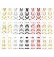 premium colorful ribbons quality collection vector image