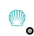 Seashell logo Scallop seashell elegant symbol Sea vector image