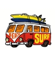 surfing badge vector image vector image