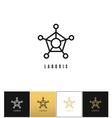 Connection molecule logo or digital science vector image
