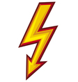 lightning symbol vector image vector image