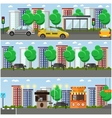 set of street concept design elements flat vector image