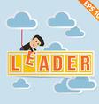 Cartoon Businessman with business billboard - vector image