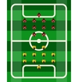 Soccer Stadium Top View vector image