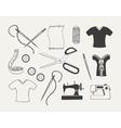 Set of dressmaking emblems badges labels and vector image