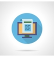 Web newsletter flat round icon vector image