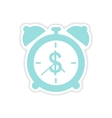 paper sticker on white background time is money vector image