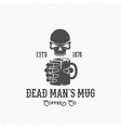 Dead Mans Mug Coffee Company Abstract Vintage vector image