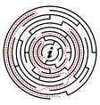 Circular labyrinth vector image
