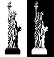 drawing statue of liberty usa symbol vector image