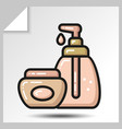 Icons of beauty cosmetics 20 vector image