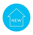 New house line icon vector image
