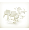 Origami animals vector image