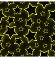 Seamless neon stars background vector image
