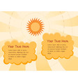 sunny day cartoon background vector image