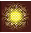 the sun executed in technics of a halftone on vector image