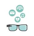 smartglasses wearable technology icons vector image