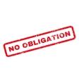 No Obligation Rubber Stamp vector image