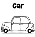 Collection transport of car hand draw vector image