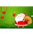 Santa with Christmas Gift vector image vector image