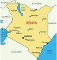 Republic of Kenya - map vector image