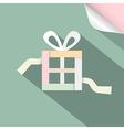 Paper Retro Gift Box Present Box on Retro vector image vector image