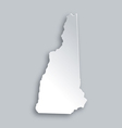 Map of New Hampshire vector image