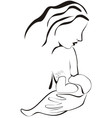 Breastfeeding vector image