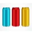 Aluminum Colorful Cans vector image
