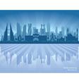 Manama Bahrain city skyline silhouette vector image