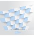 abstract background Square white blue vector image