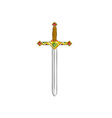 ancient gold sword isolated on the white vector image