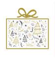christmas gift box design on white background vector image