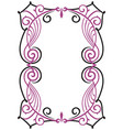 decorative frame in art nouveau style vector image