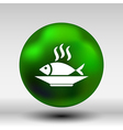 Fish menu icon logo seafood fork tuna vector image