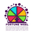 fortune wheel made of colorful segments with vector image