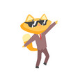 funny angry businessman fox in a suit standing and vector image