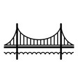 golden gate bridge icon simple black style vector image