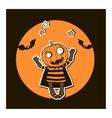 Halloween with pumpkin vector image